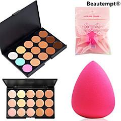 Powder Puff/Beauty Blender 1PCS 15 Color Concealer+1PCS Water Drop Powder Puff15 Color Concealer: 15x10x1 cm;Water Drop Powder Puff: