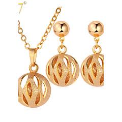 かわいいスタイル ゴールド ゴールド シルバー 1×ネックレス 1×イヤリング(ペア) のために 結婚式 パーティー 日常 1セット ウェディングギフト