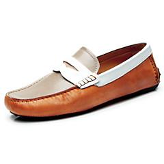 남자 신발 웨딩/사무실 & 커리어/캐쥬얼 가죽 로퍼 멀티 색상
