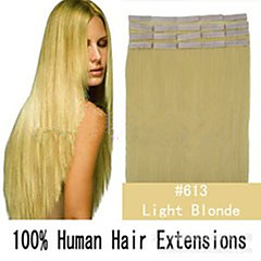 Grade 5A 1Pc/Lot 16Inch/40cm Multicolors Straight Tape In Hair Extensions Human Hair Weaves 20s/Pack 1.5G/s