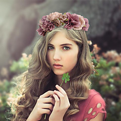 נשים בד כיסוי ראש-חתונה / אירוע מיוחד זרי פרחים חלק 1