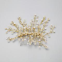 Vrouwen / Bloemenmeisje Kristallen / Licht Metaal / Imitatie Parel Helm-Bruiloft / Speciale gelegenheden Haarkammen 1 Stuk Helder