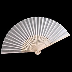 Ventilatoren und Sonnenschirme-# Stück / Set Handfächer Klassisches Thema Weiß 38cmx21cmx1cm 2.4cmx21cmx1cm
