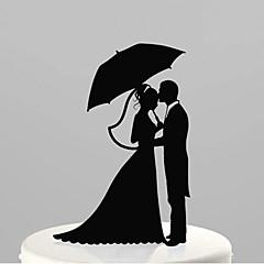 Decorações de Bolo Não-personalizado Acrilíco Casamento / Aniversário / Despedida de Solteira Preto Tema  Jardim / Tema Clássico 1 PPO
