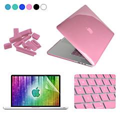 """Enkay 4 en 1 cristal étui de protection + protecteur d'écran + clavier + film anti-poussière bouchons pour MacBook Pro rétine 13.3 """""""