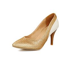 Scarpe Donna - Scarpe col tacco - Matrimonio / Casual / Serata e festa - Tacchi / A punta - A stiletto - Lustrini -Rosso / Argento /