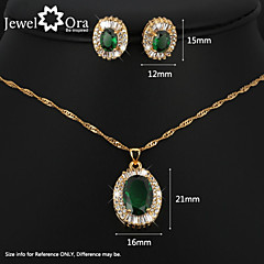 Women's Crystal Jewelry Set Brand 18K Gold Plated Party synthetic gemstone jewelry Sets Fashion Rhinestone Jewelry