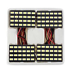lorcoo ™ 4pcs preto 24 do painel de LED SMD 5050 cúpula luz lâmpada + t10 BA9S festão adaptador