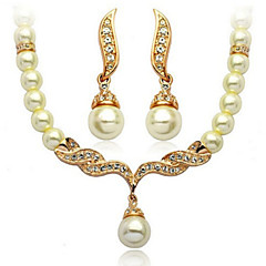 Jewelry Set Women's Anniversary / Wedding / Engagement / Birthday / Gift / Party / Daily / Special Occasion Jewelry SetsImitation Pearl /