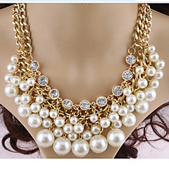 MISS U Women's All Matching Vintage Pearl Necklace