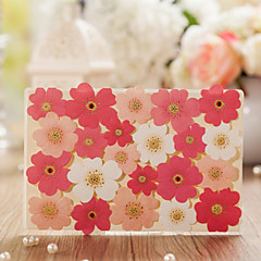 Personalized Double Gate-Fold Wedding Invitations Invitation Cards-50 Piece/Set Floral Style Art Paper Flowers