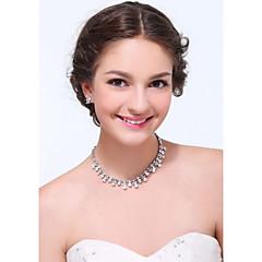 Women's Silver Alloy Rhinestone Cubic Zirconia Jewelry Set