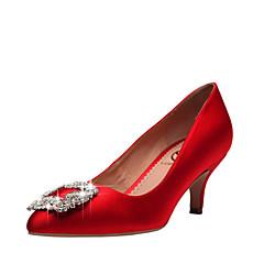 Bruiloft Schoenen - Rood / Champagne - Huwelijk / Formeel / Feesten & Uitgaan - Gepunte neus / Dichte neus - hoge hakken - voor - Dames