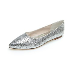 Women's Spring / Summer / Fall / Winter Pointed Toe Glitter Wedding / Casual / Party & Evening Flat Heel Sequin Black / Silver / Gray