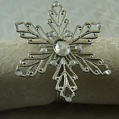 metal snefnug serviet ring, jern, 1.77inch, sæt med 12