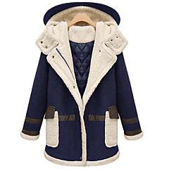 Vintage / Informell Langarm - FRAUEN - Mäntel & Jacken ( Gemischte Wolle )