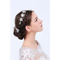 Ženy Sterlingové stříbro / Slitina Přílba-Svatba / Zvláštní příležitost / Neformální Čelenky / vlasové klipy / Vlásenka 3 kusy