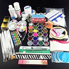 97PCS Glitter UV Gel Cleanser Primer Nail Art Kit Set