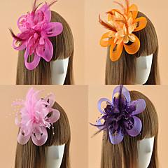 Women's Feather Flower Shape Fascinators (Assorted Color)
