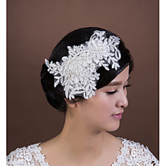Women's Lace / Imitation Pearl Headpiece-Wedding / Special Occasion Flowers 1 Piece