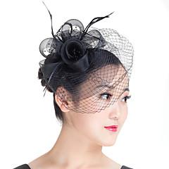 Vrouwen Veren Imitatie Parel Polyester Helm-Bruiloft Speciale gelegenheden Informeel Buiten Fascinators 1 Stuk