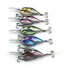 5pcs pcs leurres de pêche Manivelle Couleurs assorties g/Once mm pouce,Plastique dur Pêche en mer Pêche d'eau douce Pêche de la perche