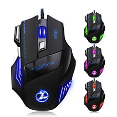 5500 DPI Gaming Athletics Wired USB Mouse Mic 7 Button With Colorful Breathing Lights