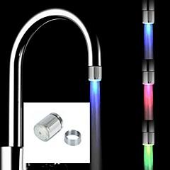 Zeitgenössisch Armatur für die Küche LED Gebürstet
