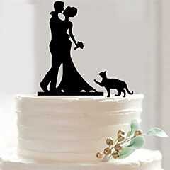 Acrylic Mr & Mrs Cat Cake Topper Non-personalized Acrylic Wedding / Anniversary / Bridal Shower 19.6*15.6 cm