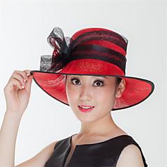 נשים פשתן כיסוי ראש-חתונה / אירוע מיוחד / קז'ואל / חוץ כובעים חלק 1