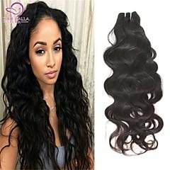 "1Pcs/Lot 8""-26"" Brazilian Virgin Remy Hair Extensions #1B(Natural Color) Natural Wave 6A MTBW09"