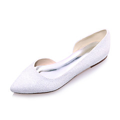 Women's Wedding Shoes Pointed Toe Flats Wedding / Party & Evening Black / Ivory / White