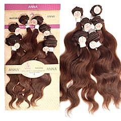 """# צבע שיער ברזילאי evet מארג בתולת 4 2x12 חבילות שיער אדם כהה גל חום גוף """", 2X14"""", 2x16 """"סט שיער 200 גרם / הרבה"""