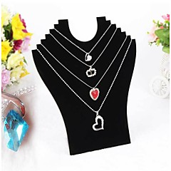 Black Velvet Necklace Pendant Display 23*24*7cm