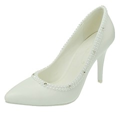Women's Wedding Shoes Pointed Toe Stiletto Heel Wedding / Dress White
