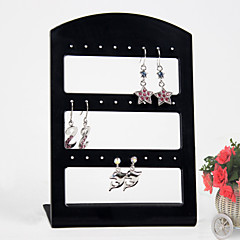 מציג תכשיטי עגילים אקריליק שחורים 24 מחזיק