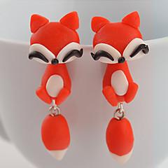 スタッドピアス ファッション シリコーン アニマル オレンジ レッド ジュエリー のために 日常 カジュアル 2 個