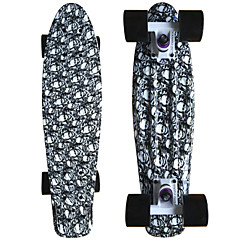 PP (Polypropylen) Herrn Damen Kinder Unisex Standard-Skateboards Totenkopf