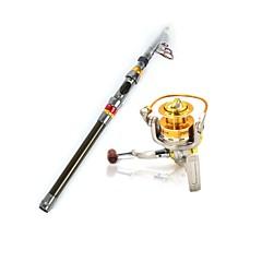 Vara de Pesca Telespin Metal / Plástico Duro / Nailom / Carbono / Aço Inoxidável /Ferro 300 MPesca de Mar / Isco de Arremesso / Pesca no