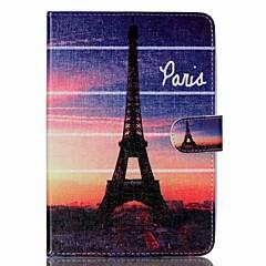 Eiffeltårnet folio læder stå dække tilfældet med stativ til iPad mini 3/2/1