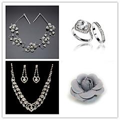 Wedding Suit(Headdress & Necklace & Earrings& Ring & Brooch)