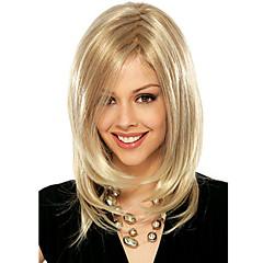 mulheres peruca cor loiro médio retas longas perucas de cabelo sintético