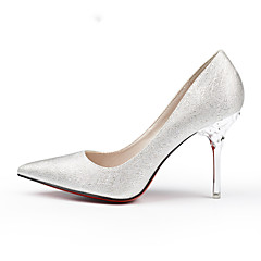 Women's Shoes Wedding Shoes Pointed Toe Stiletto Heel Fashion Shoes Silver/Gold/White