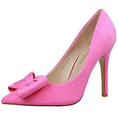 Women's Shoes Velvet Stiletto Heel Heels Heels Wedding / Dress Black / Pink / Red / Gray
