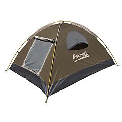 Makino 3-4 osoby Stříška Trojitý Camping Tent 2000-3000 mm Oxford Voděodolný Prodyšnost Rychleschnoucí-Turistika Kempink Outdoor-Žlutá