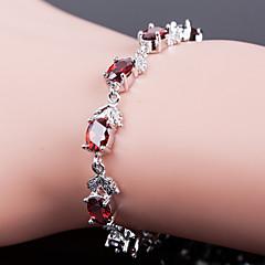 Top Quality AAA Zircon Bracelet Fine Jewelry ,Fire Red