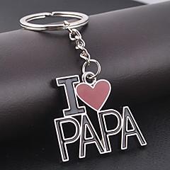 eu amo o keychain para o presente do papa