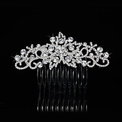 Women's Alloy Headpiece-Wedding / Special Occasion Hair Combs 1 Piece Clear