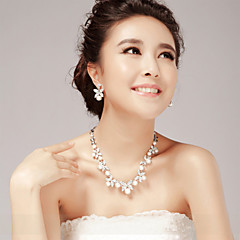 Women's Imitation Pearl / Alloy Necklace Anniversary / Wedding / Party / Special Occasion Imitation Pearl / Rhinestone