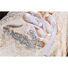 Satijn Huwelijk / Feest/Uitgaan / Dagelijks gebruik Sjerp-Pailletten / Sierstenen / Appliqués / Parels / Kristal Dames 98 ½ In (250Cm)
